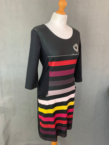 DESIGUAL Ladies 1/2 Sleeve Black DRESS - Size M Medium