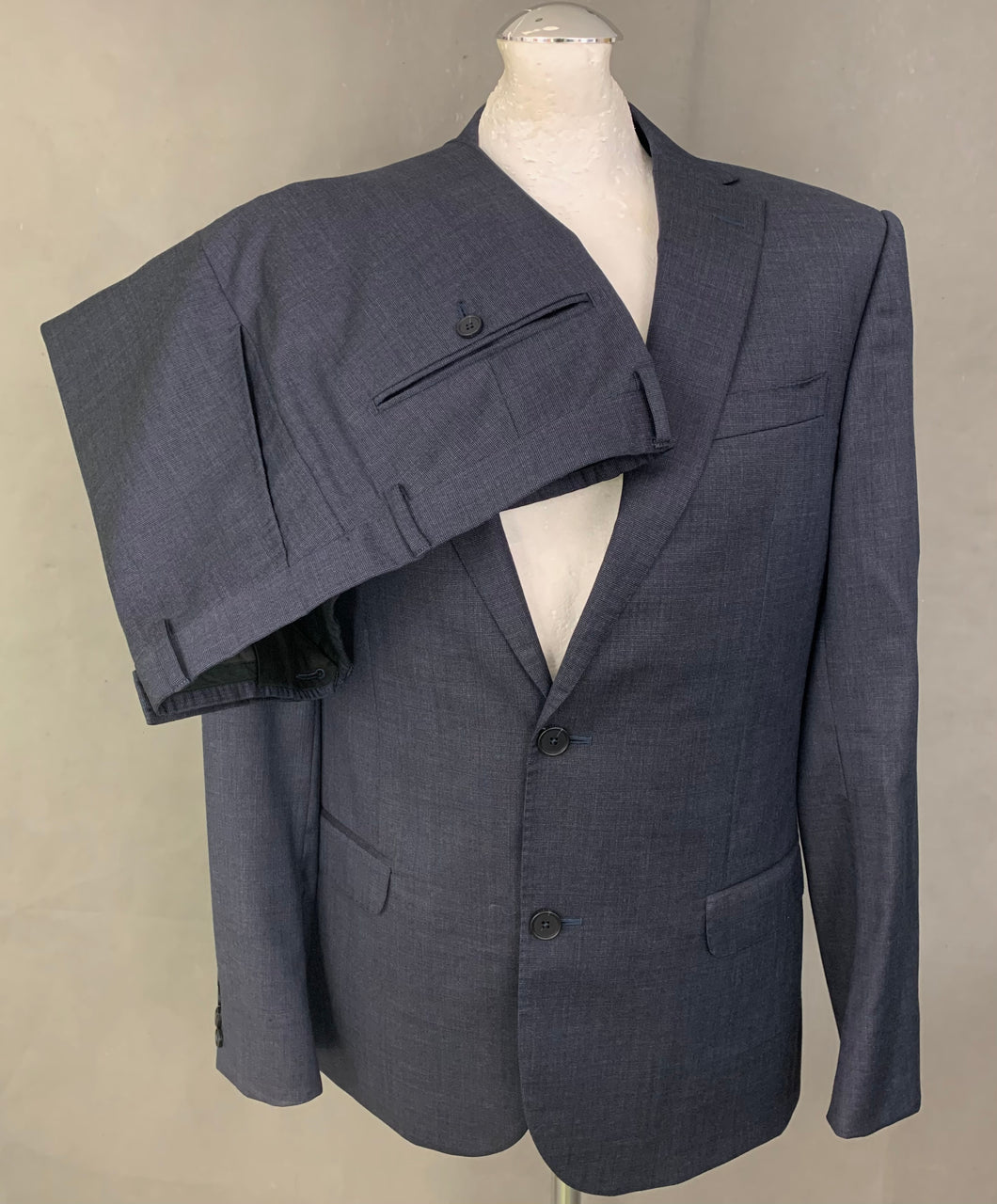 ERMENEGILDO ZEGNA Blue Wool 2 PIECE SUIT Size IT 50 R - 40