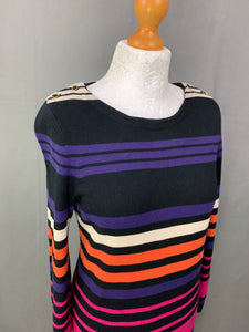 HOBBS London CASHMERE & SILK Blend JUMPER DRESS - Size UK 12