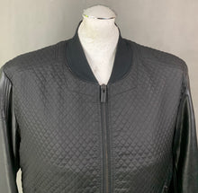 Load image into Gallery viewer, HUGO BOSS Mens BIZET Black Faux Leather Sleeve JACKET / COAT Size M Medium