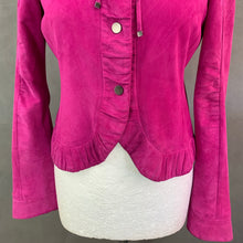 Load image into Gallery viewer, ARMANI COLLEZIONI Ladies Purple SUEDE Goatskin JACKET Size IT 40 - UK 8