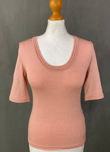 MISSONI Ladies Pink Sparkly TOP Size IT 42 - UK 10