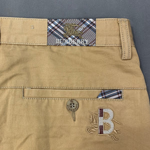 "BURBERRY Mens Light Brown Cotton SHORTS - Size 38"" Waist"