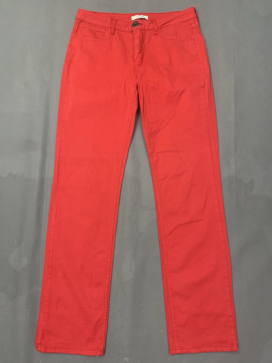 BURBERRY Ladies Red Straight Leg JEANS Size Waist 31