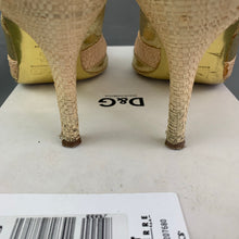 Load image into Gallery viewer, D&G DOLCE&GABBANA Ladies Gold SANDALO Slingback Heels - Size 38 - UK 5