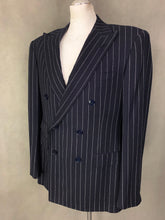 "Load image into Gallery viewer, RALPH LAUREN PURPLE LABEL Mens Pinstriped 2 PIECE SUIT Size 42R - UK 42"" Chest W36 L32"