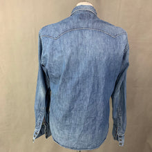 Load image into Gallery viewer, REPLAY Mens Blue Denim Long Sleeved SHIRT - Size LARGE L