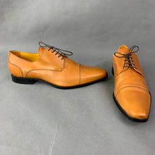 Load image into Gallery viewer, UNDANDY Mens Brown Derby Lace-Up SHOES Size EU 43 - UK 9