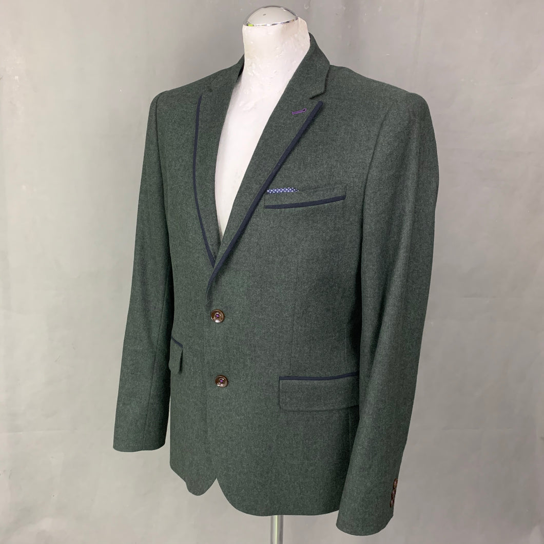TED BAKER Mens LOUSJAK Virgin Wool BLAZER / SPORTS JACKET Ted Size 4 - L Large 40