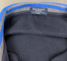 Load image into Gallery viewer, HACKETT Mens Blue Cotton Zip Fasten CARDIGAN Size L Large