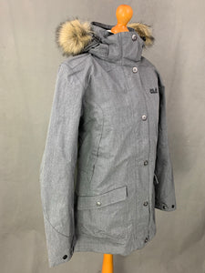 JACK WOLFSKIN Ladies Grey TEXAPORE COAT / JACKET Size M Medium UK 12