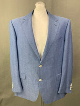 "Load image into Gallery viewer, CANALI Mens Blue Wool & Linen BLAZER / SPORTS JACKET Size IT 58 - 48"" Chest"