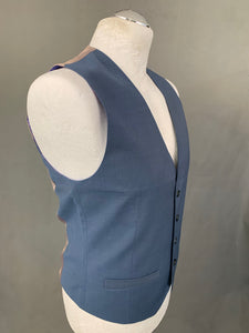 New TED BAKER PASHION Mens BEARWAY Blue WAISTCOAT Size 38R - Medium M - BNWoT