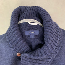Load image into Gallery viewer, GANT Mens Alpaca Blend Navy Blue JUMPER - Size XL - Extra Large