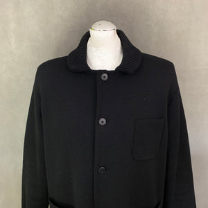 CANALI Mens MERINO WOOL Black COAT / JACKET - Size IT 52 - XL Extra Large