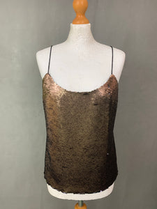 New TED BAKER Ladies ALODIE SEQUINNED VEST TOP Size L Large BNWT
