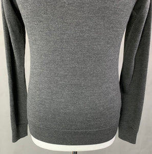 FRED PERRY Mens 100% Merino Wool Grey JUMPER - Size XS - Extra Small