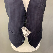 Load image into Gallery viewer, New TED BAKER Mens GENTELW Debonair Microcheck WAISTCOAT Size 38R - Medium M