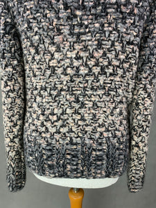MARC CAIN Virgin Wool & Mohair Blend Chunky Knit CARDIGAN Size N2 Small S