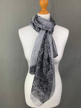 Load image into Gallery viewer, JOHN GALLIANO 100% SILK Grey SCARF - 173cm x 65cm - Made in Italy