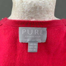 Load image into Gallery viewer, PURE COLLECTION Ladies Pink 100% CASHMERE CARDIGAN - Size UK 10