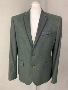 "TED BAKER Mens LOUSJAK Virgin Wool BLAZER / SPORTS JACKET Ted Size 4 - L Large 40"" Chest"