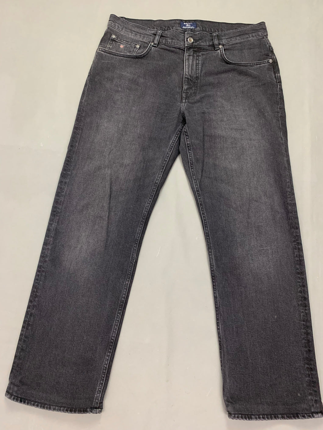 GANT Mens TYLER Grey Denim Straight Leg JEANS Size Waist 36