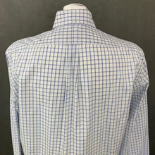 "Load image into Gallery viewer, RALPH LAUREN Mens Blue Check SHIRT Size 16.5"" Collar - XL"