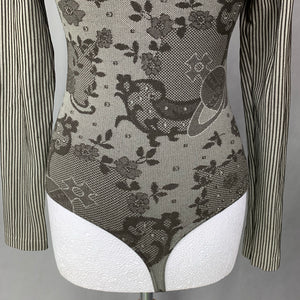 VIVIENNE WESTWOOD with WOLFORD Ladies BODYSUIT / BODY TOP - Size Small S