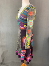 Load image into Gallery viewer, DESIGUAL Ladies Long Sleeved Colourful DRESS - Size S Small