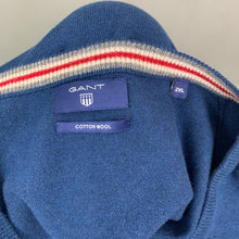 Load image into Gallery viewer, GANT Mens Blue V-Neck Wool & Cotton Blend JUMPER - Size 2XL - XXL