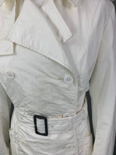Load image into Gallery viewer, AQUASCUTUM Ladies White TRENCH COAT / MAC JACKET Size UK 14