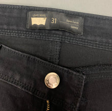 "Load image into Gallery viewer, LEVI STRAUSS & Co Ladies Black Denim LEVI'S DEMI CURVE Skinny JEANS Waist 31"" LEVIS"