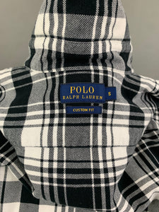 POLO RALPH LAUREN Ladies Black Check Pattern Flannel Shirt - Size Small S