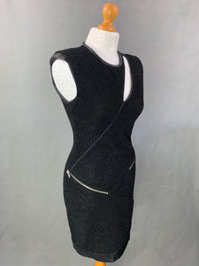 SPORT THE KOOPLES Ladies Black Leather Trim DRESS - Size L - Large
