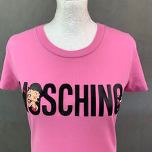 Load image into Gallery viewer, MOSCHINO COUTURE ! SS18 Jeremy Scott BETTY BOOP Pink T-SHIRT Size UK 10