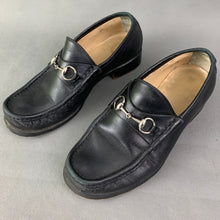Load image into Gallery viewer, GUCCI Ladies Black Leather HorseBit Loafers / Shoes Size EU 36 C - UK 3