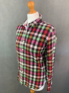 JACK WILLS Ladies Check Pattern FLANNEL SHIRT - Size UK 10