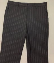 Load image into Gallery viewer, JIL SANDER Ladies Black Pinstriped TROUSERS - Size DE 42 - UK 14 - IT 46