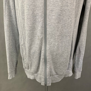 HUGO BOSS Mens Grey HOODED JERSEY JACKET - Size XXL - 2XL
