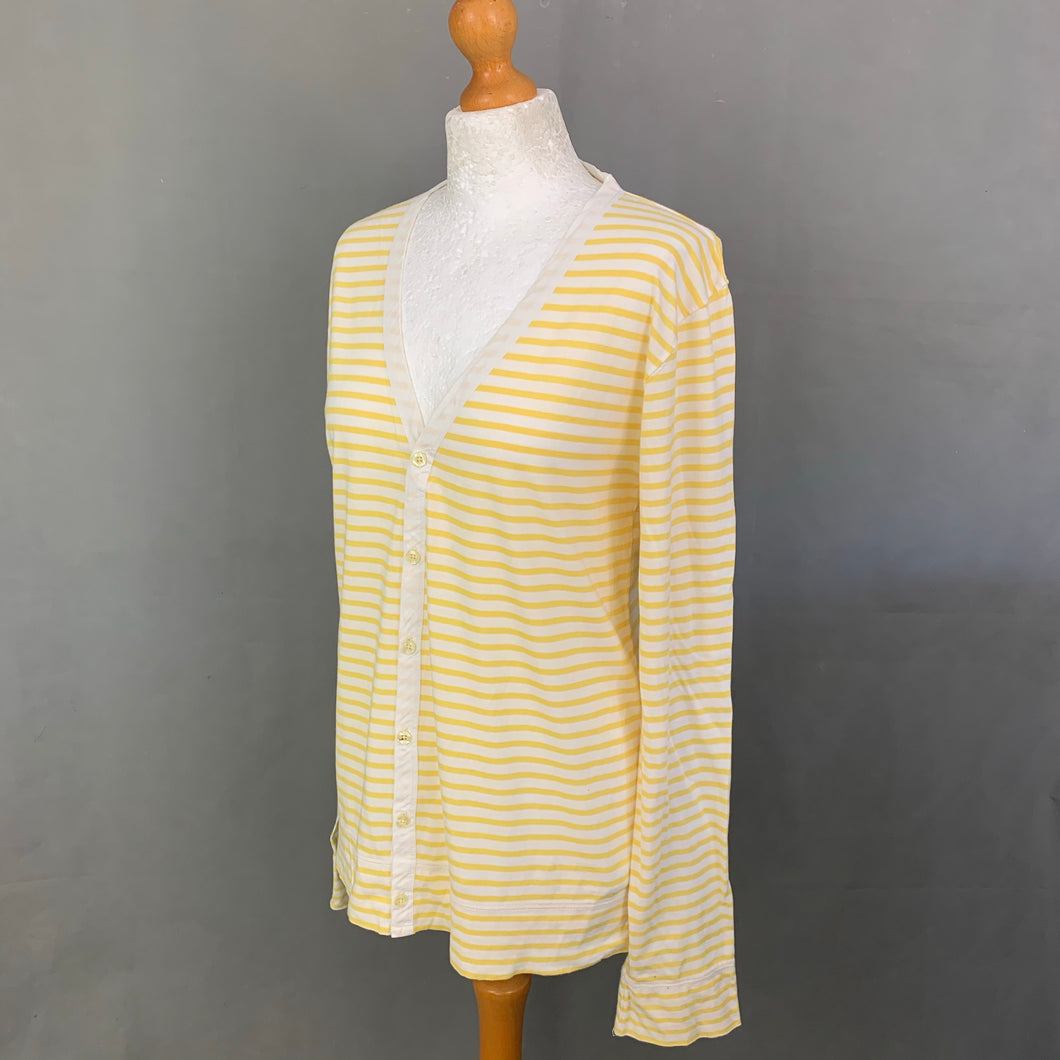 PS PAUL SMITH Ladies Yellow Striped CARDIGAN - Size M Medium