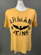 Load image into Gallery viewer, ARMANI Mens Regular Fit Yellow T-SHIRT - Size 2XL XXL - TSHIRT TEE