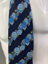 Load image into Gallery viewer, KENZO HOMME Mens 100% SILK Blue Floral TIE - Made in Italy