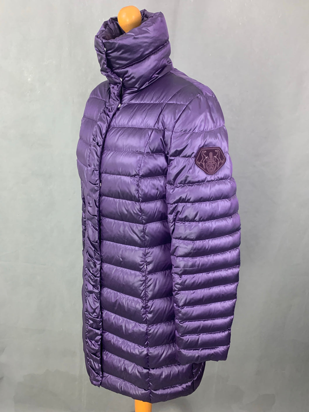 ESCADA Ladies DOWN FILLED Purple QUILTED COAT Size 40 - Medium M - UK 12