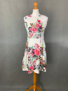 PEPONE France Ladies Floral Pattern DRESS - Size UK 10