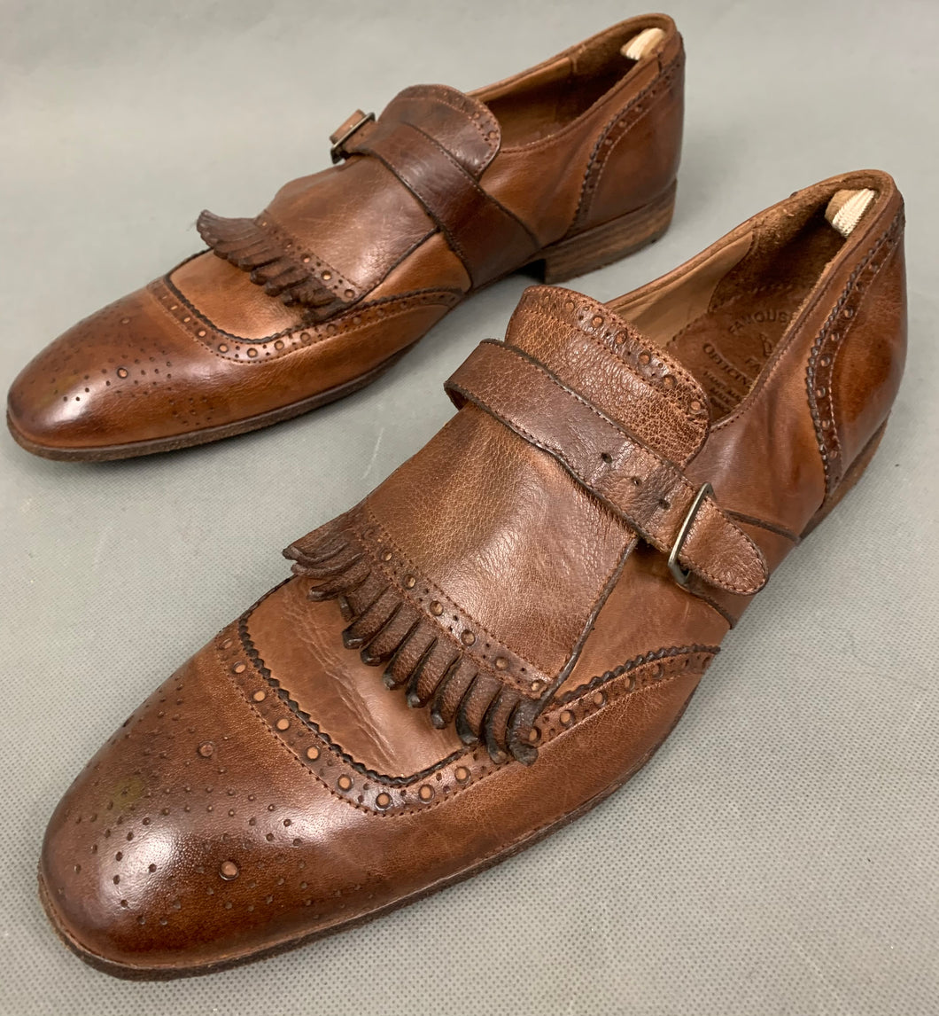 OFFICINE CREATIVE Mens Brown Buckled Brogues / Shoes Size EU 43 - UK 9
