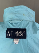 Load image into Gallery viewer, ARMANI Ladies Blue Rain Mac JACKET Size UK 14