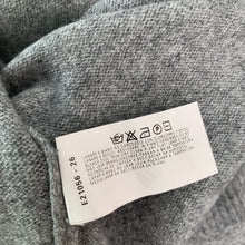 Load image into Gallery viewer, ARMANI Ladies Grey Cashmere & Wool Blend JUMPER - Size UK 12