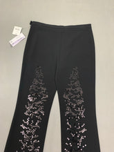 Load image into Gallery viewer, New MOSCHINO CHEAPandCHIC Ladies Black Sequinned TROUSERS Size IT 42 - UK 10 BNWT