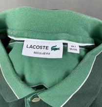 Load image into Gallery viewer, LACOSTE Mens Green Striped POLO SHIRT - LACOSTE Size 7 - 2XL XXL